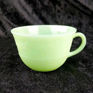 Vintage jadeite Alice pattern teacup no saucer